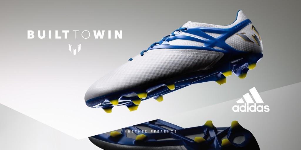 Hvide og blå Adidas Messi15