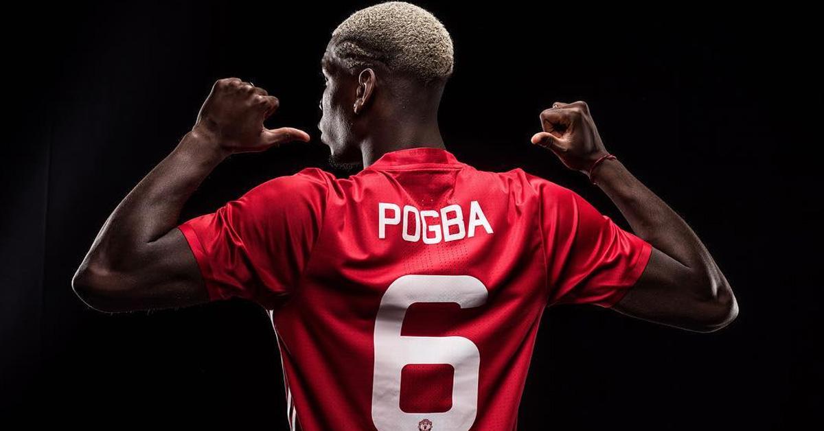 Paul Pogba Manchester United Fodboldtrøje