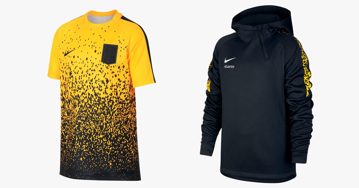 Sort og Gul Neymar Nike træningstøj