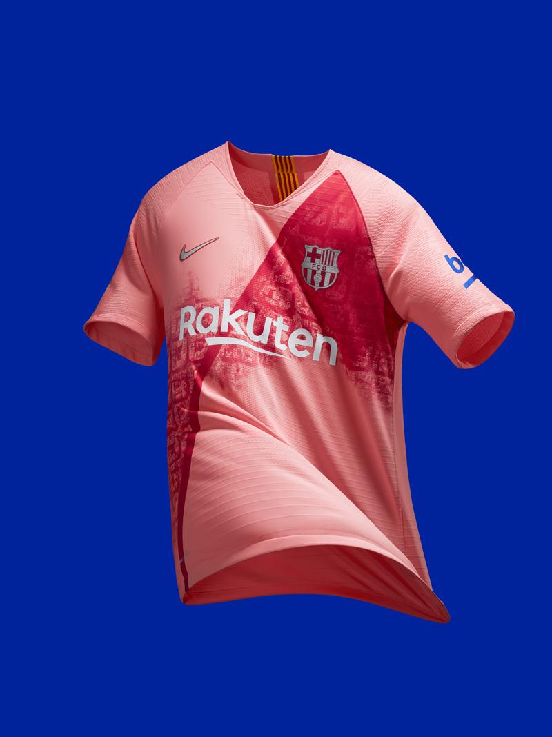 Lyserød FC Barcelona 3. Trøje