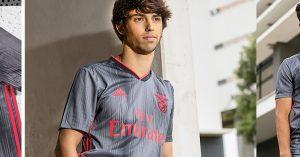Grå Benfica Udebanetrøje 2019