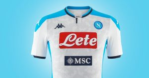 Hvid Napoli 3. Trøje 2019