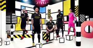 Sort Manchester City Udebanetrøje 2019