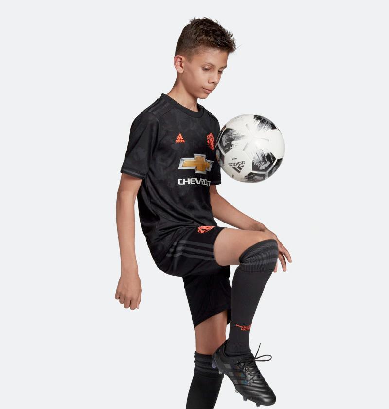 Sort Manchester United 3. Trøje 2019 Børn