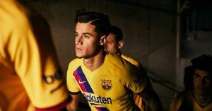 Gul FC Barcelona Udebanetrøje 2019