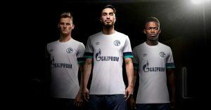 Hvid Schalke 04 Udebanetrøje 2019