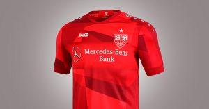 Rød VfB Stuttgart Udebanetrøje 2019