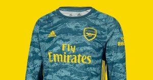 Blå Arsenal FC Målmandstrøje Hjemmebane 2019