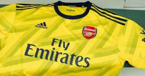 Gul Arsenal FC Udebanetrøje 2019