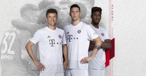 Hvid FC Bayern München Udebanetrøje 2019