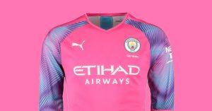 Pink Manchester City Målmandstrøje 2019