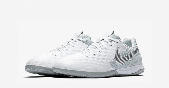 Hvide Nike React Tiempo Legend 8 Pro Indendørs Fodboldsko