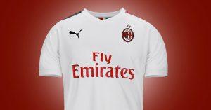 Hvid AC Milan Udebanetrøje 2019