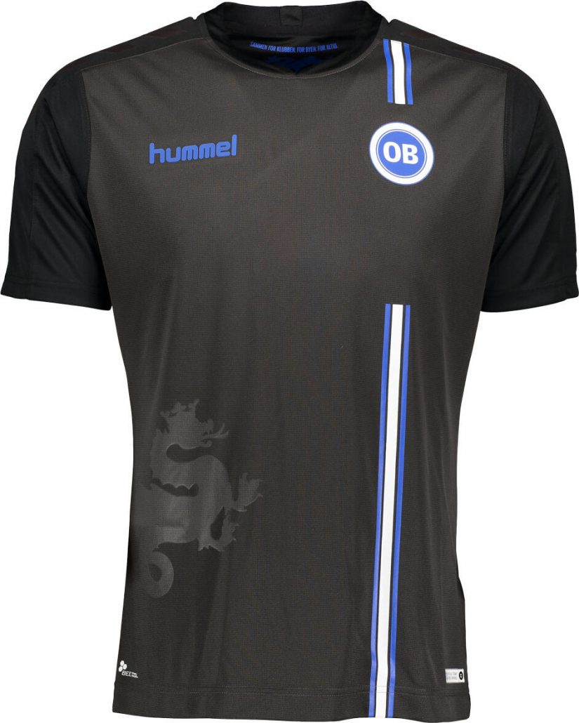 Sort Odense Boldklub Udebanetrøje 2019