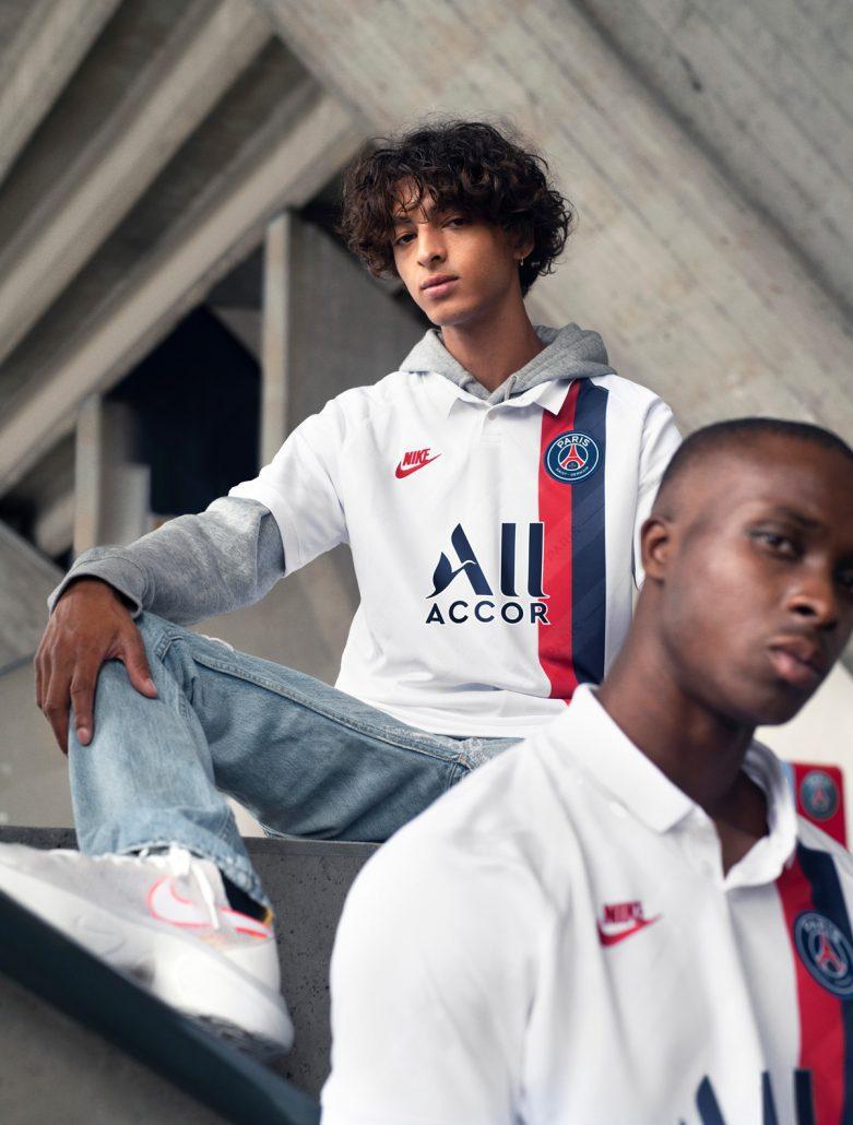 Hvid Paris Saint-Germain 3. Trøje 2019