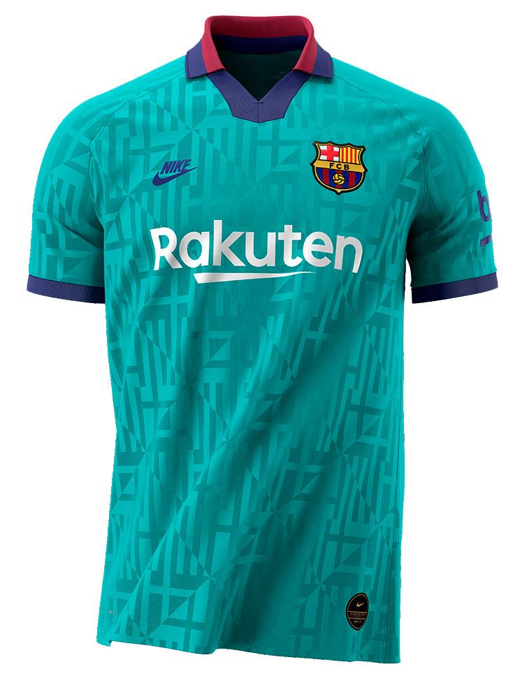 Tyrkis FC Barcelona 3. Trøje 2019