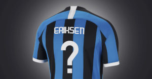 Christian Eriksen FC Inter Fodboldtrøje