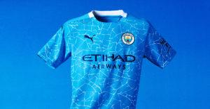 Lyseblå Manchester City FC Hjemmebanetrøje 2020