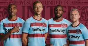 Lyseblå West Ham United FC Udebanetrøje 2020