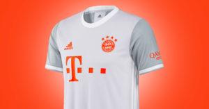 Hvid FC Bayern München Udebanetrøje 2020