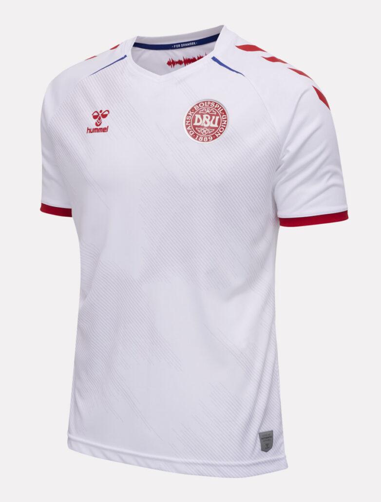 Hvid Danmark Udebanetrøje EURO 2020