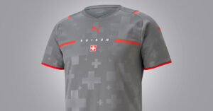 Grå Schweiz Målmandstrøje Euro 2020