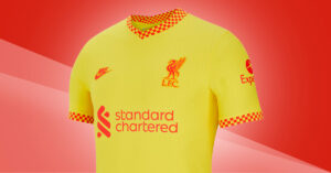 Gul Liverpool FC 3. Trøje 2021